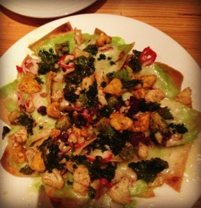 Cauliflower and Kale Nachos