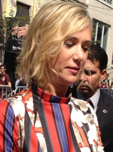 Close up! Kristen Wigg being aweome.