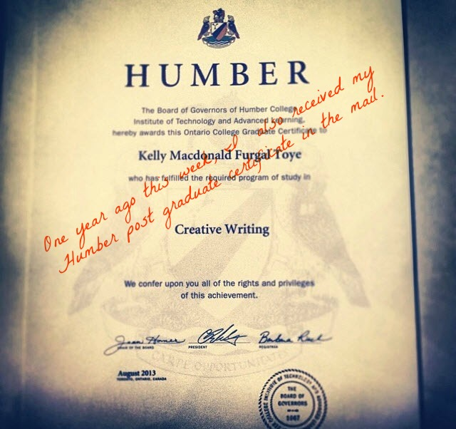 Humber School of Writers Post Graduate Certificate