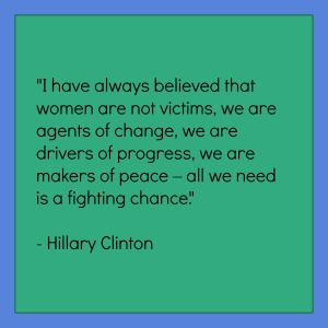 Hillary Clinton is one wise woman.