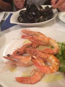 Fresh Seafood at Ammoudi