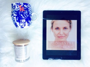 The Longevity Book, By Cameron Diaz and Sandra Banks. Blog photo taken by K.M.F.Toye 2016.